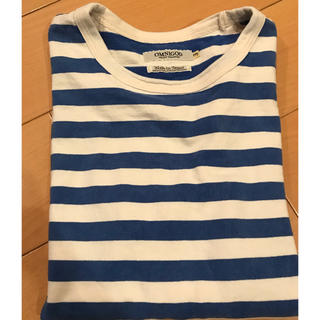 オムニゴッド(OMNIGOD)の値下げしました!OMNIGOD 青ボーダー ロンTシャツ サイズ3(Tシャツ/カットソー(七分/長袖))
