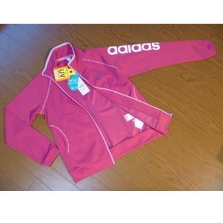 アディダス(adidas)のアディダス*UV* デオドラント* ジャージ JED81*S*ピンク*デカロゴ(その他)