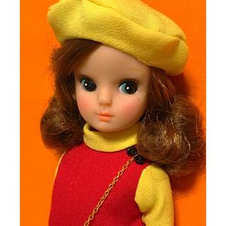 5fa6ce0653025 懐かしのデザインワンピセット 初代リカちゃん、復刻リカちゃんサイズ(人形)