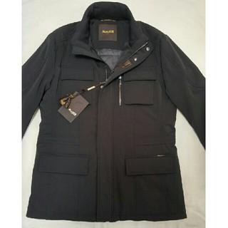 ブルネロクチネリ(BRUNELLO CUCINELLI)のムーレーMOORER断熱素材中綿ジャケット50ブラック(ミリタリージャケット)