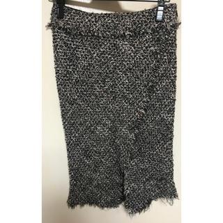 ザジ(ZAZIE)のZAZIE   ツイードスカート(ひざ丈スカート)