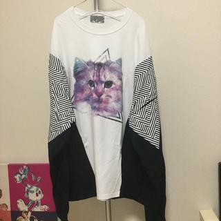 リベルタス(REBERTAS)のTHE TEST スペイシーキャット ロングスリーブTシャツ(Tシャツ/カットソー(七分/長袖))