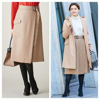 アイシービー(ICB)のICB 今期新品 Limber スカート ベージュ サイズ42(ひざ丈スカート)