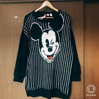 ディズニー(Disney)のミッキー ニットワンピース(ミニワンピース)