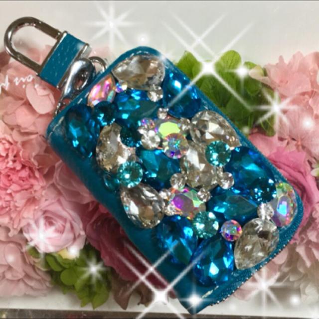 トリーバーチ iPhoneSE ケース | キラキラガラスストーンスマートキーケース デコの通販 by デコショップ 雅|ラクマ