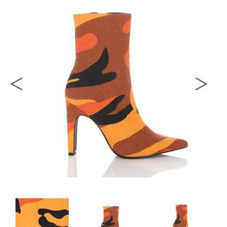 イエローブーツ(Yellow boots)のyello  M4 short カモフラ オレンジ ショートブーツ(ブーツ)