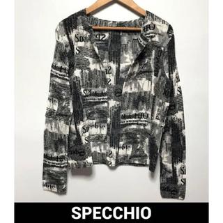 スペッチオ(SPECCHIO)の美品SPECCHIO プリーツジャケット(ノーカラージャケット)