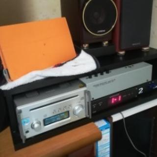 オーディオラック スタンド テレビ台 IH ブラック(電話台/ファックス台)