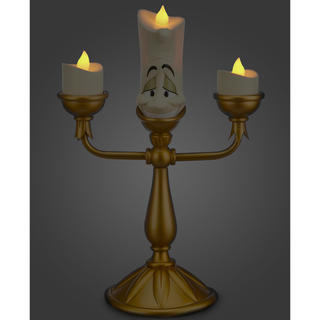 ディズニー(Disney)のルミエール ライトアップ フィギュア 日本未発売 アメリカディズニー正規品(テーブルスタンド)