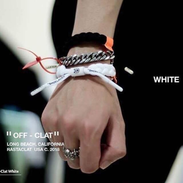 OFF-WHITE(オフホワイト)のOff-Clat Rastaclat off-white オフホワイト メンズのアクセサリー(ブレスレット)の商品写真