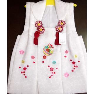 絹100%被布コート刺繍入り3歳/日本製/ 新品未使用(和服/着物)
