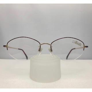 シルエット(Silhouette)のシルエット Silhouette 日本製 新品 正規品 レディース 眼鏡 紫 金(サングラス/メガネ)