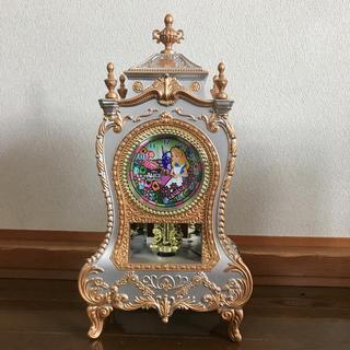 ディズニー(Disney)のアリス クリスタル クロック(置時計)