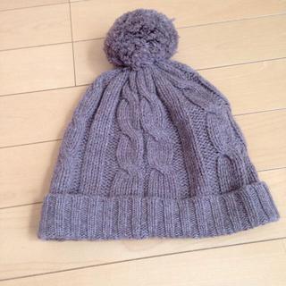 ムジルシリョウヒン(MUJI (無印良品))のニット帽 レディース(ニット帽/ビーニー)