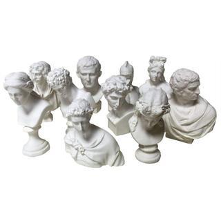 石膏像風 樹脂製 ミニチュア 石膏像 風 10個 セット A(彫刻/オブジェ)