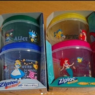 ディズニー(Disney)の2セット💕ジップロックスクリューロック  ディズニー アリス&アリエル(容器)