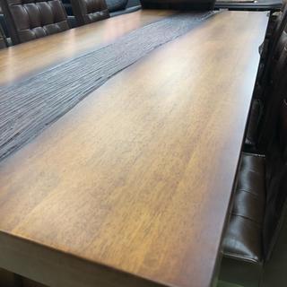 【逸品】【送料無料】【2m樹ダイニングテーブル+6脚チェスタ椅子=限定7点セット(ダイニングテーブル)