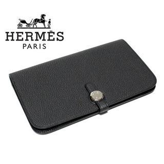 エルメス(Hermes)のHERMES エルメス 新品本物 Dogon/ドゴン GM ブラック 長財布 (財布)