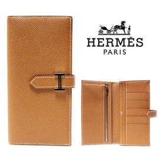 エルメス(Hermes)のHERMES エルメス 新品本物 Bearn/ベアンスフレ ゴールド 長財布(財布)