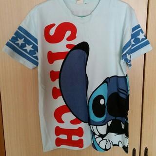 スティッチ Tシャツ 水色