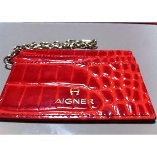 アイグナー(AIGNER)の美品Aigner定期入れ カードケース(名刺入れ/定期入れ)