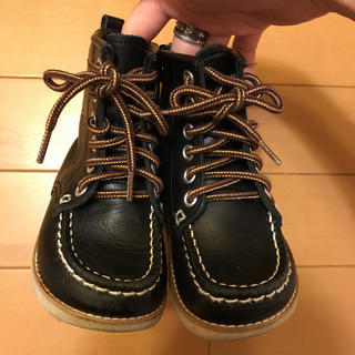 ダブルビー(DOUBLE.B)のDOUBLE.B 黒ブーツ 14.0㎝(ブーツ)