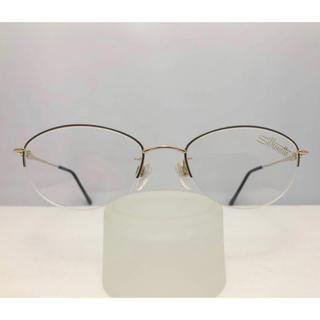 シルエット(Silhouette)のシルエット Silhouette 新品 正規品 レディース 日本製 眼鏡 青 金(サングラス/メガネ)