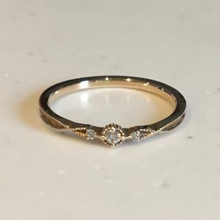 アガット(agete)のagete K10×ダイヤモンド リング(リング(指輪))