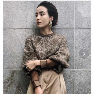 アメリヴィンテージ(Ameri VINTAGE)のちちゃ様専用  ameri damask jacquard knit 新品(ニット/セーター)