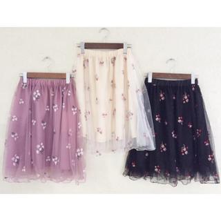 ハニーズ(HONEYS)のチュール刺繍スカート(その他)