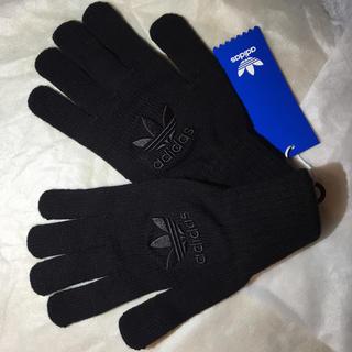 アディダス(adidas)のadidasニット手袋 黒(手袋)