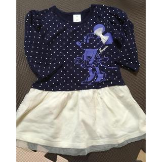 ディズニー(Disney)のディズニー ミニーちゃん ワンピース シフォン (ワンピース)