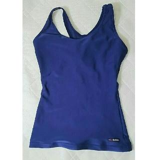 ギャレックス  3Lナイロン80%滑らか伸縮紺色トップス水着 (水着)