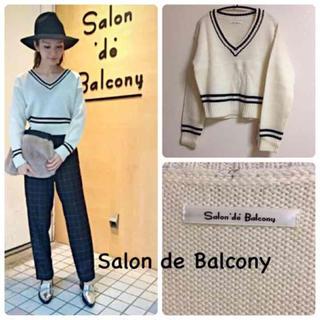 サロンドバルコニー(Salon de Balcony)の新品未使用 ♡ Salon de Balcony チルデンニット(ニット/セーター)