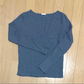 ジーユー(GU)の大型店限定 ワッフルヘンリーネックT(Tシャツ(長袖/七分))