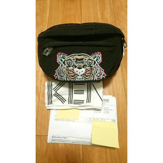 ケンゾー(KENZO)の★新品正規品【KENZO】 タイガー刺繍  ボディバッグ ブラック(ボディーバッグ)