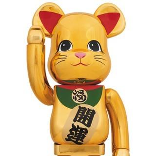 【送料込】金メッキ 参 3 三 1000% ベアブリック ソラマチ 招き猫 新品