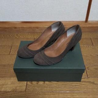 アトリエブルージュ(atelier brugge)の日本製  スエード革  パンプス(ハイヒール/パンプス)
