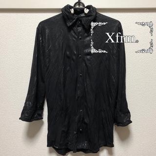 トランスフォーム(Xfrm)のXfrm ストレッチ五分袖シャツ サイズ2 ブラック 黒(シャツ)