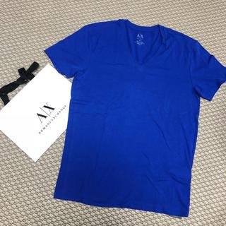 アルマーニエクスチェンジ(ARMANI EXCHANGE)の新品!◾︎ A/X アルマーニエクスチェンジ Tシャツ◾︎M バック付青(Tシャツ/カットソー(半袖/袖なし))