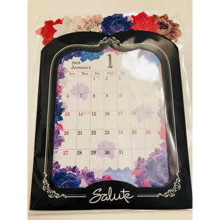 ワコール(Wacoal)のsaluteノベルティ  卓上カレンダー(カレンダー/スケジュール)