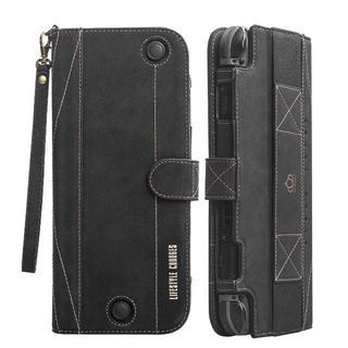 ニンテンドースイッチ(Nintendo Switch)のNintendo Switch 手帳型 ケース 高級レザー製 保護カバー BK(携帯用ゲーム本体)
