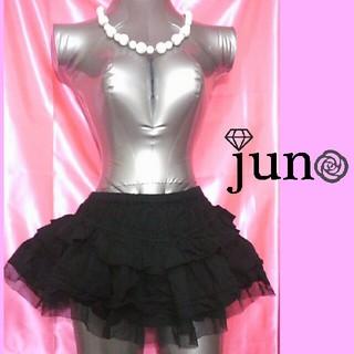 ジェーエスジー(JSG)のJSG シースルー チュール チュチュ パニエ ミニスカート 黒(ミニスカート)