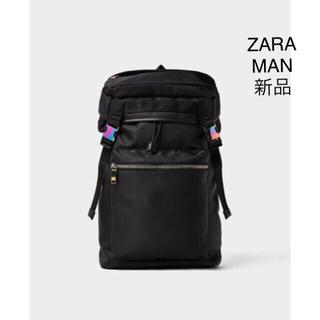 ザラ(ZARA)のZARA  ソフト生地 ブラック バックパック(バッグパック/リュック)