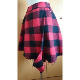 アゴストショップ(AGOSTO SHOP)のアゴスト ブロックチェック巻きスカート(ロングスカート)