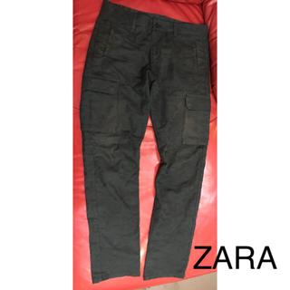 ザラ(ZARA)のZARA メンズ パンツ 迷彩 ブラック(ワークパンツ/カーゴパンツ)