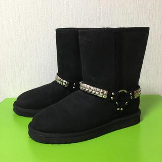 クーラブラ(Koolaburra)のクーラブラ ムートンブーツ ブラック US7(ブーツ)