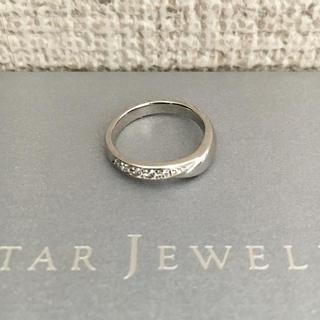 スタージュエリー(STAR JEWELRY)のスタージュエリー ダイヤモンド リング Pt950 0.04ct 3.9g(リング(指輪))