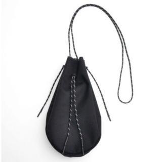 未使用 吉岡衣料店 drawstring bag ブラック L(ショルダーバッグ)