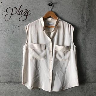 プラージュ(Plage)の【Plage】ノースリーブ オープンカラーシャツ F(シャツ/ブラウス(半袖/袖なし))